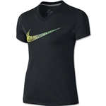 Nike Legend Girls Confetti Swoosh T-Shirt (Black)