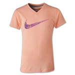 Nike Legend Girls Confetti Swoosh T-Shirt (Orange)