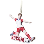 Boy Soccer Ornament