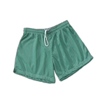 White Hole Mesh Women's Shorts (Green)