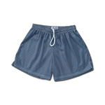 White Hole Mesh Women's Shorts (Navy)