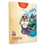 FIFA Women's World Cup Canada 2015 Official Poster Stretched Canvas