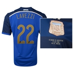 Argentina 2014 LAVEZZI 22 World Cup Final Commemorative Soccer Jersey