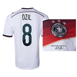 Germany 2014 OZIL 8 World Cup Final Commemorative Soccer Jersey