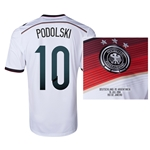 Germany 2014 PODOLSKI 10 World Cup Final Commemorative Soccer Jersey