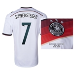 Germany 2014 SCHWEINSTEIGER 7 World Cup Final Commemorative Soccer Jersey
