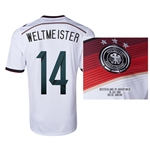 Germany 2014 WELTMEISTER 14 World Cup Final Commemorative Soccer Jersey