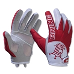 Brine Silhouette Women's Lacrosse Gloves (Red)