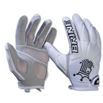 Brine Silhouette Women's Lacrosse Gloves (White)
