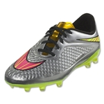 Nike Junior Hypervenom Phelon Premium FG (Chrome/Metallic Gold Coin)