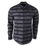 adidas Originals Long Sleeve Striped Button Up Shirt (Blk/Grey)