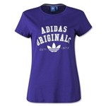 adidas Originals Women's Logo Essential T-Shirt (Purple)
