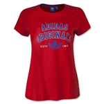 adidas Originals Women's Logo Essential T-Shirt (Red)