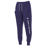adidas Originals Women's Logo Essential Baggy French Terry Pant (Purple)
