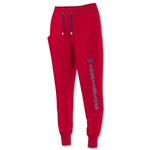 adidas Originals Women's Logo Essential Baggy French Terry Pant (Red)
