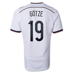 Germany 14/15 GOTZE Home Soccer Jersey (4 Stars)