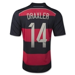 Germany 2014 DRAXLER Away Soccer Jersey (4 Stars)
