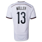 Germany 2014 MULLER Youth Home Soccer Jersey (4 Stars)
