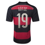 Germany 2014 GOTZE Youth Away Soccer Jersey