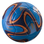 adidas 2014 Brazuca Glider Ball (Solar Blue/Night Blue/Solar Zest)