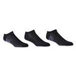 adidas ClimaCool Superlite 3 Pack No Show Sock (Blk/Grey)