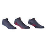 adidas ClimaCool Superlite 3 Pack No Show Sock (Gray/Red)