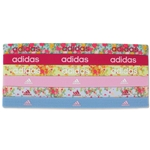 adidas Women's Sidespin Graphic Hairband 6 Pack (Yellow)