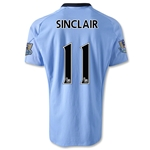 Manchester City 12/13 SINCLAIR Home Soccer Jersey