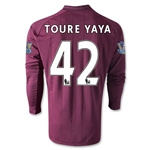 Manchester City 12/13 TOURE YAYA LS Away Soccer Jersey