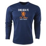 Chelsea Graphic Long Sleeve Training Top (Navy)