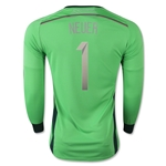 Germany 14/15 NEUER Goalkeeper Jersey (4 Stars)