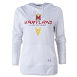 Under Armour Maryland Lacrosse Women's French Terry Hoody (White)