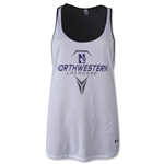 Under Armour Northwestern Lacrosse Women's Mesh Tank (White)