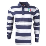 Italy Classic Striped Polo (Navy)