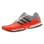 adidas Response Boost TechFit Running Shoe (Solar Red/Black/Solid Grey)