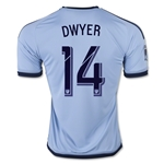 Sporting KC 2015 DWYER Home Soccer Jersey