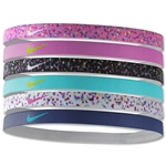 Nike Printed Headbands Assorted Six pack (Neon Pink)