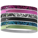 Nike Printed Headbands Assorted Six pack (Pink)