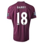 Manchester City 12/13 BARRY Away Soccer Jersey