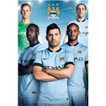 Manchester City 14/15 Players Poster