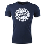 Bayern Munich Distressed Logo Men's Fashion T-Shirt (Navy)