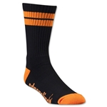 Adrenaline Lacrosse J-Train Neon Sock (Blk/Orange)