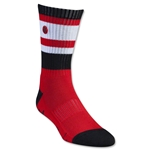 Adrenaline Lacrosse The Director Socks (Red/Blk)