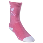 Adrenaline Breast Cancer Awareness Sock (Pink)