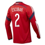 Colombia 2014 ESCOBAR LS Away Soccer Jersey