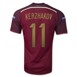 Russia 14/15 KERZHAKOV Authentic Home Soccer Jersey