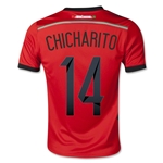 Mexico 2014 CHICHARITO Youth Away Soccer Jersey