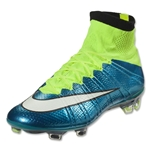 Nike Women's Mercurial Superfly FG (Blue Lagoon/White)
