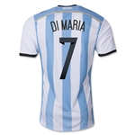 Argentina 2014 DI MARIA Authentic Home Soccer Jersey