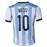 Argentina 2014 MESSI Youth Home Soccer Jersey